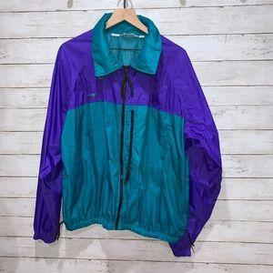 Vintage Columbia Hooded Rain Jacket Radial Sleeve